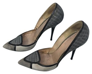 Casadei Grey Black Pumps