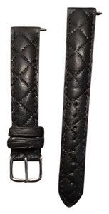 Michele 16mm Quilted Calfskin Leather watch strap