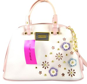 Betsey Johnson Satchel in Cream