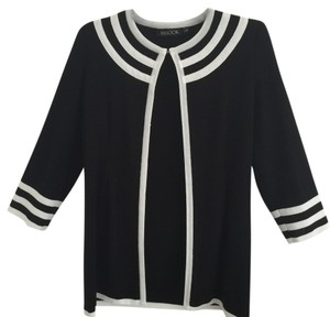 Misook Black with white trim Jacket