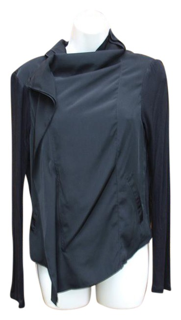 Item - Black By Muse Cascade Front Asymmetrical Zip Jacket Size 10 (M)