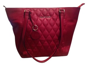 Vera Bradley Leather Quilted Dust Tote in Red