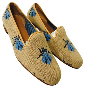 Stubbs & Wootton tan and blue Flats