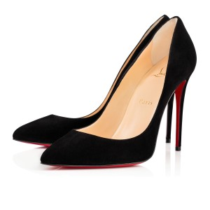 Christian Louboutin Pigalle Follies 100mm Velour Suede black Pumps
