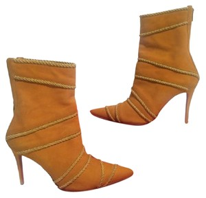 Christian Louboutin Suede Tan Boots