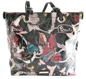 Sakroots Peace Birds Botanical Happy Canvas Tote in Multi-color