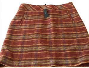 Talbots Mini Skirt Multi including Camel, sage, blue, burgundy.