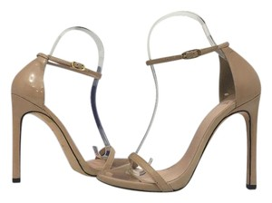 Stuart Weitzman Adobe Aniline Patent - Tan / Nude Patent Leather Sandals