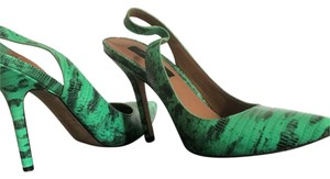 Ann Taylor green, black, emerald Pumps