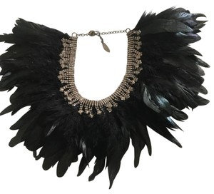 Mixology NYC Feather Bib Necklace