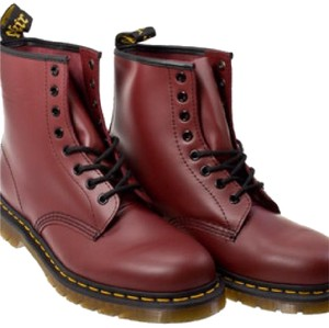 Dr. Martens Cherry red rogue leather Boots