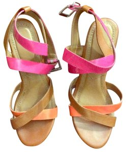Other Sandals Playful Cute Colorful Pink, orange Wedges