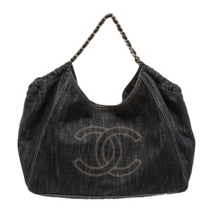 Chanel Denim Xl Coco Cabas Cabas Cabas Xl Shoulder Bag