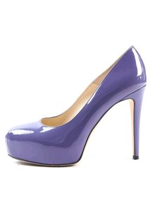 Brian Atwood Maniac Pumps Patent Purple Platforms