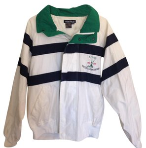 Nautica Large Unisex White, Navy & Green Jacket