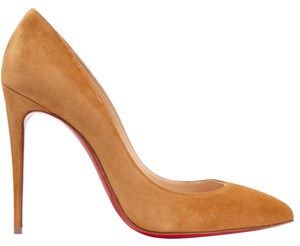 Christian Louboutin Louboutin Pigalle Pigalle Follies 100 Louboutin Pigalle Suede Brown Pumps