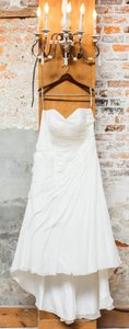 David's Bridal Chiffon-drapped Wedding Gown Wedding Dress