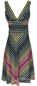 Missoni Striped Knit V-neck Sleeveless Dress