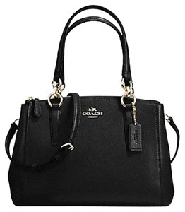 Coach Carryall 34797 36704 Christie Satchel in BLACK light gold one