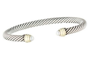 David Yurman Sterling silver David Yurman Cable Classics pearl cuff bracelet