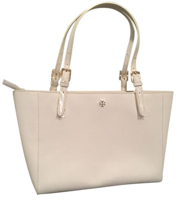Item - Small York Buckle Ivory Saffiano Leather Tote