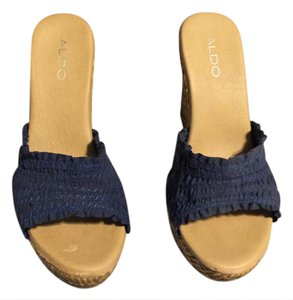 ALDO Navy Blue Wedges