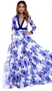 blue Maxi Dress by Glamazon Maxi Bridal Floral