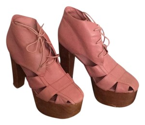 Jeffrey Campbell Mauve/Dusty Rose Platforms