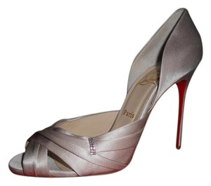Christian Louboutin Evening Jewel Satin D'orsay Tres Ophrah Pearl Pumps