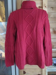 Eddie Bauer Tall Turtleneck Cable Knit Chunky Warm Sweater