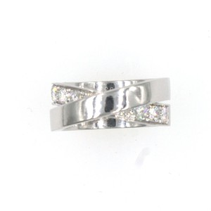 Cartier Cartier Diamond Nouvelle Bague Crossover 18KWG Band Ring