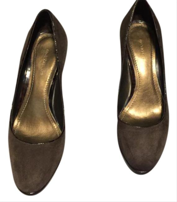 Item - Brown Suede with Animal Print Patent Leather Trim Pumps Size US 7.5 Regular (M, B)