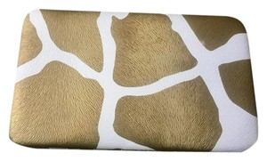 Kristine Accessories Inc Lodis Style Flat Wallet Gold and White Zebra Print