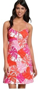 Tommy Bahama short dress Red, orange, pink on Tradesy
