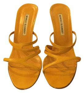 Manolo Blahnik yellow Formal