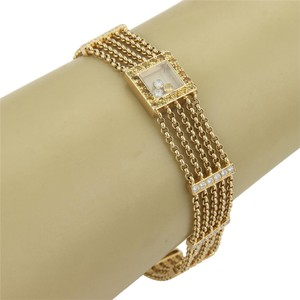 chop Chopard 18k Gold Happy Diamond & Sapphire Five Strand Chain Bracelet