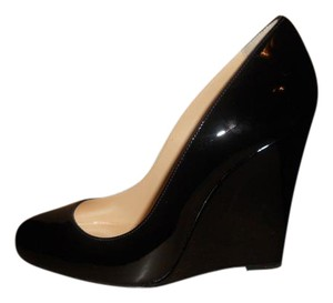 Christian Louboutin Ron Ron Patent Leather Black Wedges