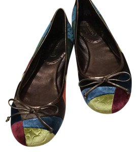 Coach blue,green,brown,burgundy,yellow,&orsnge Flats