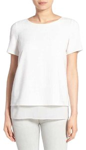 Cooper & Ella & Layered Tee T Shirt White