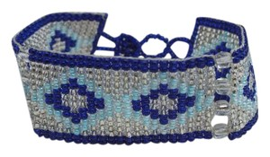 Other Blue and White Bead Bracelet, Nice Southwest Style Jewelry