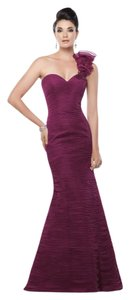 Aubergine Tulle 115d72 Formal Bridesmaid/Mob Dress Size 14 (L)