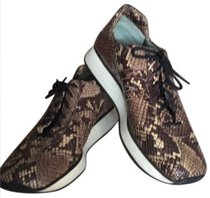 Fieramosca & Co., Made in Italy Multi- brown/tan snakeskin Athletic