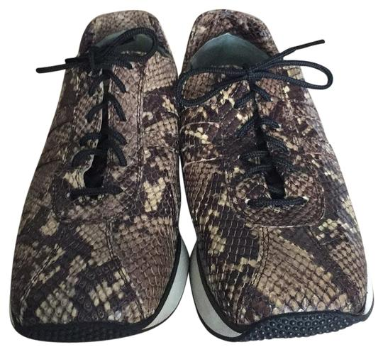 Fieramosca & Co., Made in Italy Multi- brown/tan snakeskin Athletic Image 1