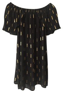 Audrey 3+1 short dress Black and gold on Tradesy