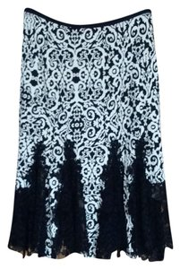 Diane von Furstenberg Skirt Black and Cream