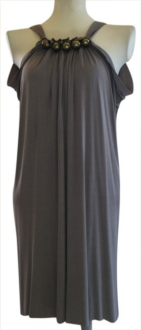 Item - Grey Luxe Louche Short Cocktail Dress Size 0 (XS)