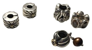 PANDORA PANDORA sterling silver gold accent charms