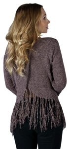 Very J Trending Fringe Hem Slide Back Sweater