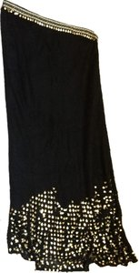 Fendi Long Maxi Skirt Black and gold