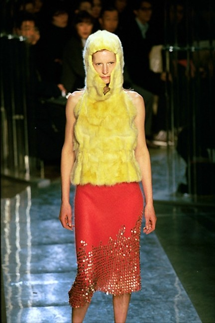 Fendi Long Mohair Mohair Amazing Talkingfashion F/W 1999 Collection Runway Collection Rare Piece 44 10 Metallic Maxi Skirt Black and gold